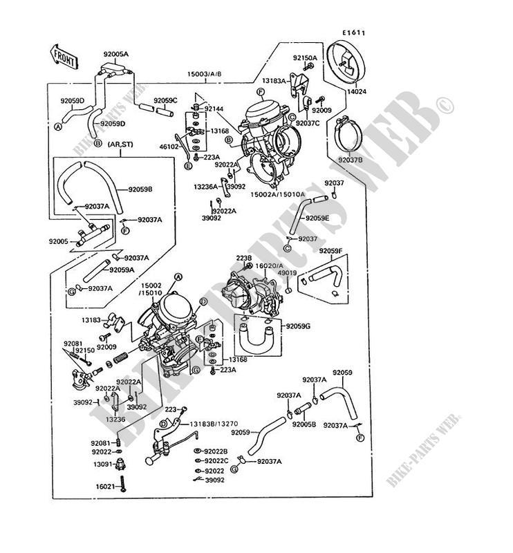 vergaser vn1500 c2 vn 15 1995 1500 motos kawasaki motorrad