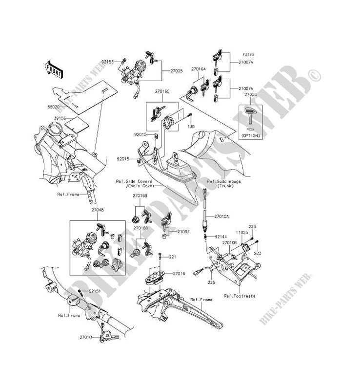 ZÜNDSCHLOSS für Kawasaki VULCAN 1700 VOYAGER ABS 2014 ... on