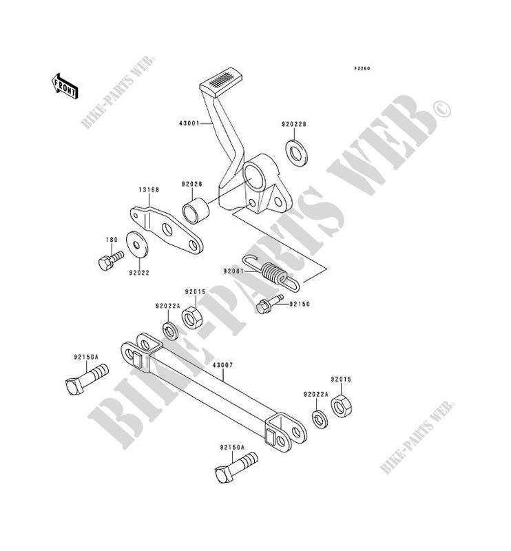 2001//ZZR1200/ZZR 1200/2002/2003/2004 Cyleto Bremsbel/äge vorne f/ür Kawasaki ZZR1100/ZZR 1100/ZX1100/1990