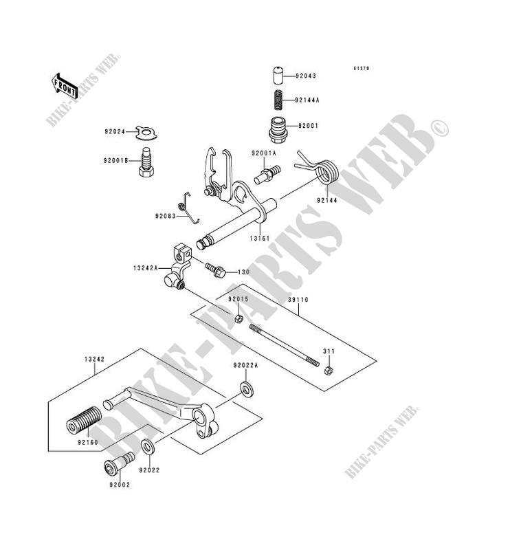 SPRING CHANGE PEDAL R Kawasaki 92144-1074